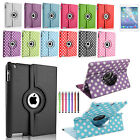 LEATHER 360 DEGREE ROTATING CASE SMART COVER FOR APPLE iPAD 5 iPAD AIR 2013