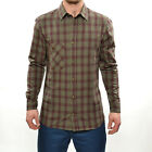 Volcom Men's Windle Plaid Long Sleeve Collared Shirt - SS14: Blood Red