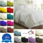 Plain Dyed Duvet Cover With Pillowcase Polycotton Quilt Bedding Set In All Sizes