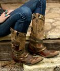 DD9004A DD Ranch Lane Frontier Trapper Western Multi Leather Cowgirl Boots