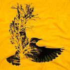 Bird Tree Nature Men's T-SHIRT Graffiti hipster street art banksy tee pet S-XL