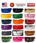Внешний вид - New Bonded Leather Belt Multi Color Golf Baseball Softball Removable Belt Buckle