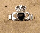 Echt Silver Claddagh Irish Love Ring Size M, Valentines,1ST CLASS RECORDED DEL