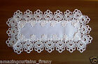 White Ivory Table Runner Tablecloth Lace Dining Living Room Table Decorations