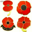 RED POPPY FLOWER LAPEL PIN BADGE BROOCH REMEMBRANCE DAY UK BROACH LEST WE FORGET