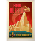 New Buffalo Brewing Company Poster City Hall Craft Brewery Drinking Bar Decor