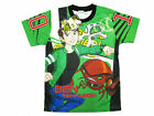 Ben 10 Alien Force Boy Kid Polyester T-Shirt #2086 Green Size 4 age 2-3