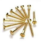 SOLID BRASS SCREWS RAISED HEAD COUNTERSUNK SLOTTED HEAD No.4, No.6, No.8