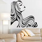 HAIR SALON Wall Sticker Hairdressing LADY POUTING LIPS Art Beauty Transfer