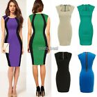 Womens Vintage Rockabilly Pinup Bodycon Fitted Party Pencil Shift Sheath Dress W