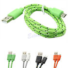 Hemp Rope V8 Micro USB Charger Charging Sync Data Cable Cord For Samsung Galaxy