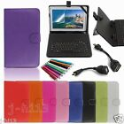 Keyboard Case Cover+Gift For 10.1 HANNSPREE SN1AT71W Andriod Tablet GB6