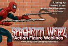 "McFarlane style ""Spaghetti Webz"" for Marvel Legends Spider-Man Webbing Pair"