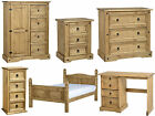 Seconique Corona Mexican Solid Pine Bedroom Furniture Range - Waxed Pine