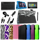 Folio PU Leather Case Cover+Bluetooth Keyboard for Kindle Fire HD 7 1st Gen 2012