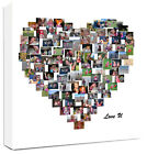 Heart Shape Photo Collage Canvas Personalised - fantastic gift