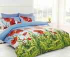 Floral Duvet Cover Set Poppy Field, Bright & Funky Photographic Print 3 sizes