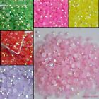 Rhinestones AB Milk Jelly Drill 3mm Flat Back Resin Crystal Acrylic Beads Shiny