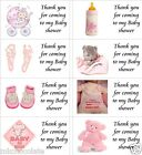 40 x Personalised Baby shower/girl/pink labels/stickers/party/cakes/sweet/bags