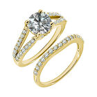 1.25 Carat G-H SI3-I1 Diamond Engagement Solitaire Ring Set 14K Yellow Gold
