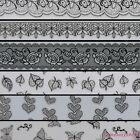 Fashion Black Lace Design Toe Nails Art Stickers Decals For Nail Tips Decoration