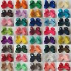 Baby/Girls Handmade Small 2 inch Darling Hair Bow Clip bobble **40 COLOURS**