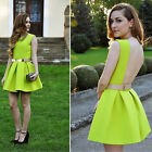 Women Sexy Backless Sleeveless Party Ball Prom Short Pleated Dress Without Belt