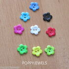 7 BUTTONS NOVELTY * FLOWERS* CARDS SEWING KNITTING CHOOSE A COLOUR
