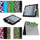 Folio PU Leather Case Stand Cover for iPad 4 Retina Display iPad 3&2 Sleep/Awake