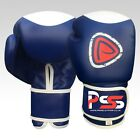 Boxing Gloves Machine Moulded Foam Fight Punch Blue Rex Leather Bag Brand New