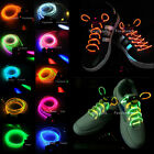 19 Color Cool LED Flash Shoelaces Luminous Shoelace Light Glow Shoe lace Skating