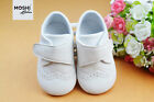 White Baby Brogues Velcro Formal  Wedding Christening Suit Shoes by Moshi Babies