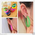 1Pair Big Mix Color Hoop Earring Large Round Hoops Chic Style Charms Hot Sale