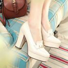 Fashion NEW High Heels Pull On Mary Jane Pump Womens Patent Leather Shoes