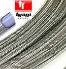 Stainless Steel Braided TEFLON PTFE Fuel Pipe Hose Car Van Petrol  ALL SIZES