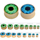 2pcs Solid Wooden Evil's Eye Ear Plugs Flesh Tunnels Stretcher Expander Earring