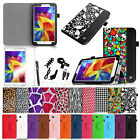 "For Samsung Galaxy Tab 4 7.0 7""Inch SM-T230 Tablet Folio Case Stand Cover Bundle"