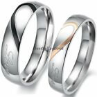 "Stainless Steel "" Real Love "" Heart Couples Promise Engagement Ring Wedding Band image"