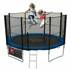 Trampoline 10FT With FREE Rain Cover, Ladder, Safety Net Enclosure, + Shoe Bag