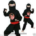 CK158 Boys Ninja Warrior Dragon Imprint Halloween Facy Book Week Child Costume
