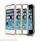 Crystal Diamond Bumper Metal Aluminum Frame Cover Case For Apple Iphone4 4S 5 5S