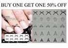 Cuticle Nail Tempory Tattoo Stickers Transfers Nail Art Decal 5 Packs for £1.99