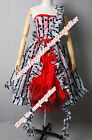 Alice In Wonderland Alice Um Red Party Dress Cosplay Costume Lady Custom-made