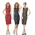 Cheapest Elegant Black Lace Cocktail Evening Pencil Party Dress 05336 Size 06-18