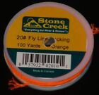 100 yards, 20 lb fly line backing, made in Canada, Teflon treated, salt or fresh
