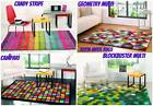 Illusion 100% Wool Rugs Vibrant Bright Modern Retro Funky Soft Small - Large Rug