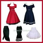 1950's RETRO PINUP ROCKABILLY BURLESQUE SWING WOMEN'S DRESS SIZES XS-4XL