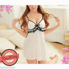 Cream Lace Nightwear Chemise Nightie Lingerie Nightdress Slipdress Nightslip S