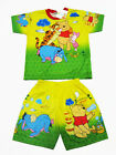 Winnie the Pooh Tigger Eeyore Piglet Outfit Set T-Shirt+Shorts Size 4-8 age 3-8
