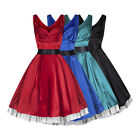 Classic 1950s Vintage Style Silky Satin Full Circle Party Prom Dress New 8 - 18